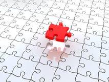 3D white jigsaw puzzles Stock Photos