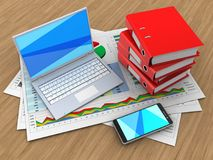 3d White Laptop Royalty Free Stock Photography