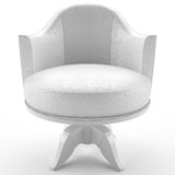3d white leather armchair Stock Photo