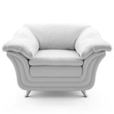 3d white leather armchair Royalty Free Stock Image