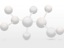 3d white molecular structure Stock Image