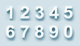 3d white numbers set Royalty Free Stock Photo