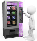 3D white people. Apps vending machine Stock Photos