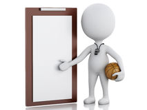 Free 3d White People Coach With Clipboard. Royalty Free Stock Photo - 50799595