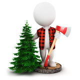 3d white people lumberjack Royalty Free Stock Photography