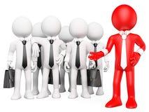 3D white people. Work team Stock Photo