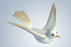 3D white Pigeon dove Stock Image