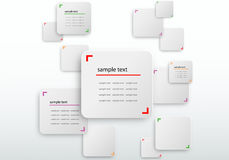 3d white rectangle. Modern abstract white rounded rectangle background pattern Royalty Free Stock Photography
