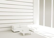 3d white sofa Stock Photography