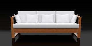 3d white sofa Royalty Free Stock Photos