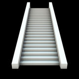 3D white staircase Stock Photography