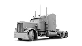 3D White Truck Royalty Free Stock Photo