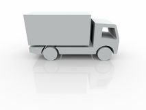 3D white Van Royalty Free Stock Images