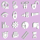 3d white web icons Stock Image