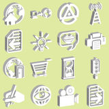 3d white web icons Stock Images
