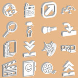 3d white web icons. A set of 3d white web icons royalty free illustration