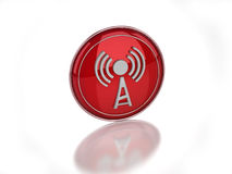 3D wi-fi disabled icon Stock Photography