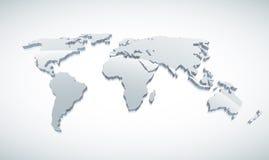 3d Światowa Mapa Zdjęcie Royalty Free