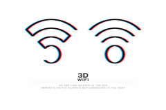 3d Wifi Royalty Free Stock Images