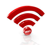 3d wifi icon Royalty Free Stock Image