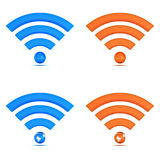 3d wifi icon collection Royalty Free Stock Photo