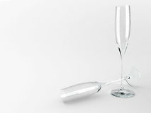 3d wineglasses för illustration två Royaltyfri Fotografi