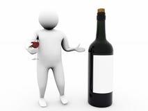 3d wino Zdjęcie Stock