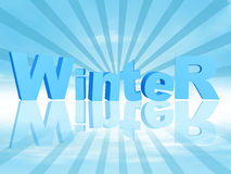 3d winter in blue rays Stock Photo