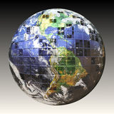 3D Wire Frame Earth. A wire frame sphere of the earth split up in square sections. Earth image courtesy of NASA Stock Photos
