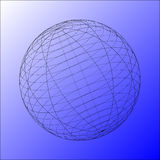 3d wired sphere () Stock Photo