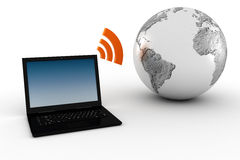 3d wireless, global communication Stock Image