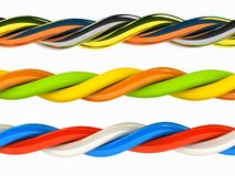 The 3d wires any color over white Royalty Free Stock Images