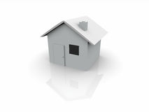 3d wit huis stock illustratie