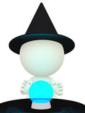 3D witch Royalty Free Stock Image