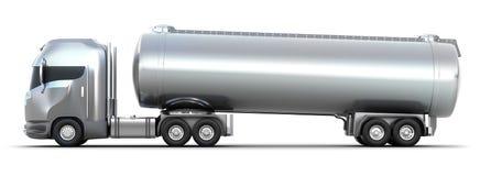 3d wizerunek odizolowywająca zbiornikowiec do ropy ciężarówka Zdjęcia Stock