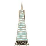 3D wolkenkrabber stock illustratie
