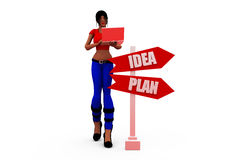3d woman dept concept Royalty Free Stock Image
