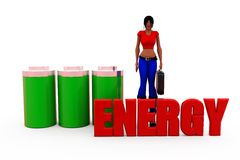 3d woman energy concept Royalty Free Stock Photo