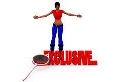 3d woman exclusive concept Stock Image