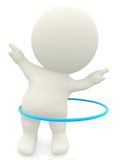 3D woman with a hula-hoop Royalty Free Stock Photo