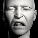 3D woman portrait Royalty Free Stock Image