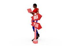 3d woman post box concept Stock Images
