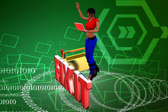 3d women Fix It illustration Stock Image