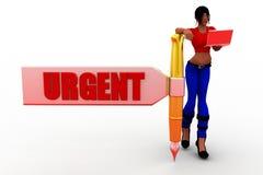3d women urgent concept Stock Photo
