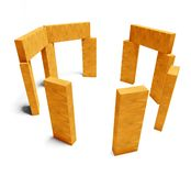 3d wooden blocks, fun and creativity Stock Photos