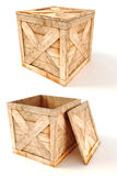 3d wooden box Stock Image