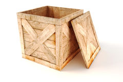 3d wooden box Royalty Free Stock Images