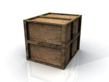 3D Wooden Boxes Royalty Free Stock Image