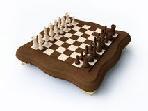 3D Wooden Chess Stock Image