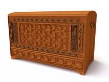 3D Wooden Chest stock illustration